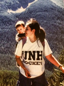 Israel's first hike. His mother, Christa, carried him to Gray Wolf Lake (with help as needed from the rest of us).